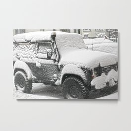 Winter in a Rover Metal Print