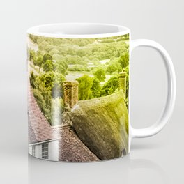 Down a quiet road in Gold Hill, Shaftesbury Coffee Mug
