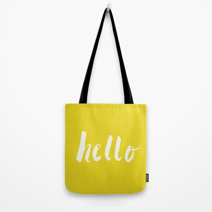 Hello x Sunshine Script Tote Bag