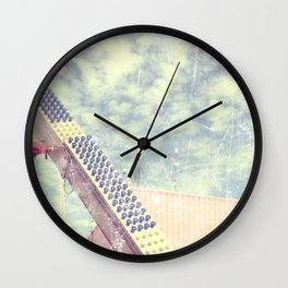Happy metal pinks Wall Clock