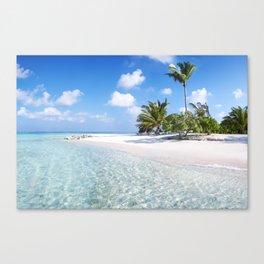 Maldives beach Canvas Print