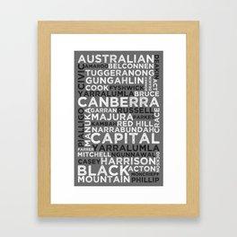 MyCity series   Canberra Framed Art Print