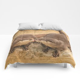 Kissing Otters Comforters