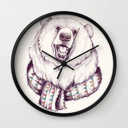 Bear & Scarf Wall Clock