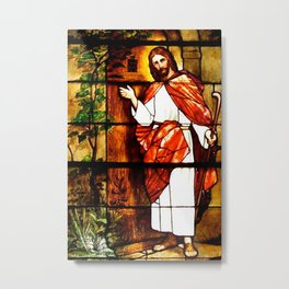 "Jesus knocks at ""The Door"" Metal Print"