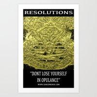 Chakranicity Resolutions 8 Art Print