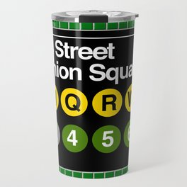 subway union square sign Travel Mug