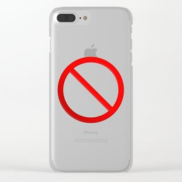 Not Allowed Sign Blank Clear iPhone Case