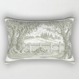 ONCE UPON A EUCALYPTUS VINTAGE PEN DRAWING Rectangular Pillow