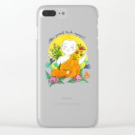 The Buddhist Monk Clear iPhone Case