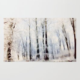 Winter landscape Aquarell Rug