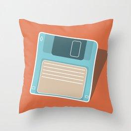 90's Retro Floppy Disk Throw Pillow