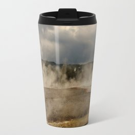 A Cloud Of Steam And Water Over A Geyser Travel Mug