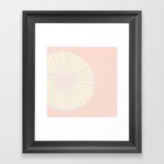 Peachy Citrus Framed Art Print