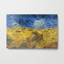 Wheatfield with Crows by Vincent van Gogh Metal Print