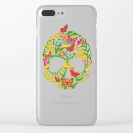 Scull Flower Clear iPhone Case