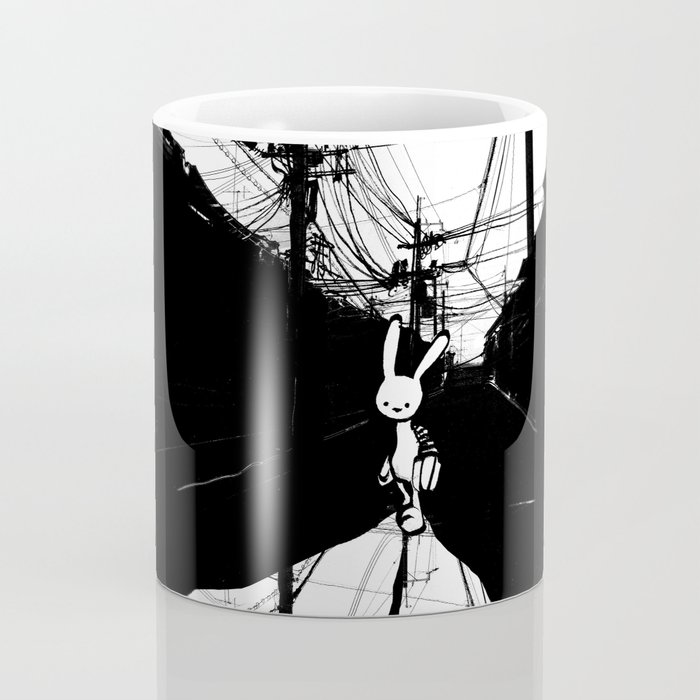 minima - beta bunny / noir Coffee Mug