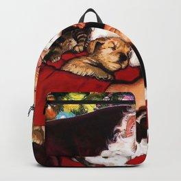 Holiday Christmas Santa Kitten Puppy Cat Dog Santa Backpack
