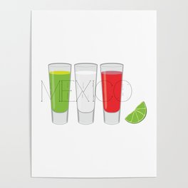 Mexico Tequila Shots Poster