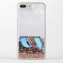 Vintage Deckchairs Clear iPhone Case
