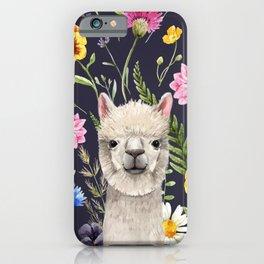 Wildflower Alpaca iPhone Case