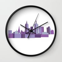 melbourne Wall Clocks featuring Melbourne by S. Vaeth