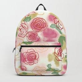 Rose Pattern Backpack