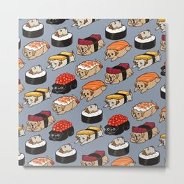 Sushi Labrador Retriever Metal Print