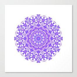 Mandala 12 / 5 eden spirit purple lilac white Canvas Print