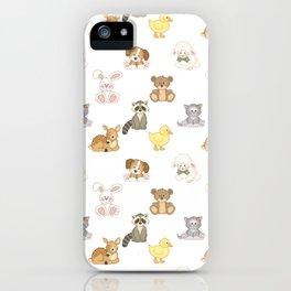 Cute Woodland Farm Baby Animals Nursery iPhone Case