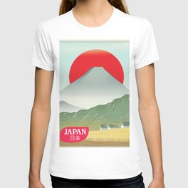 Japan mountain vintage style travel poster T-shirt