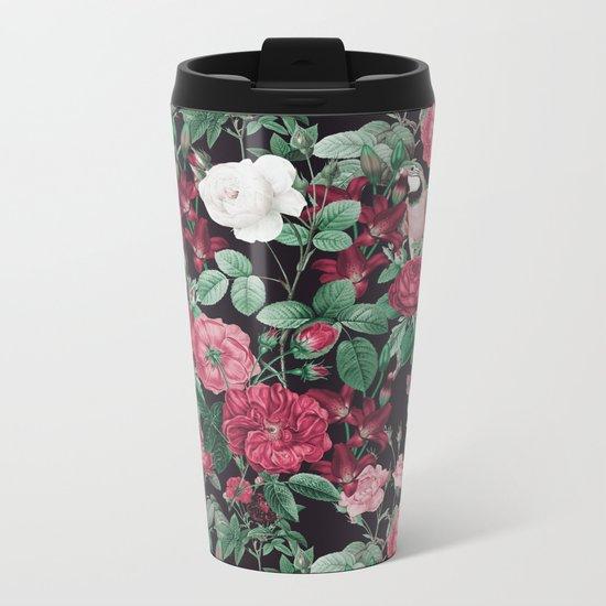 Fall/Winter17-18 Botanical Pattern Metal Travel Mug