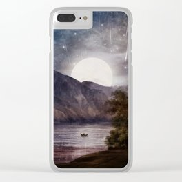 Love under A Wishing Star Sky Clear iPhone Case