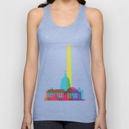 Shapes of Washington D.C. Accurate to scale Unisex Tank Top