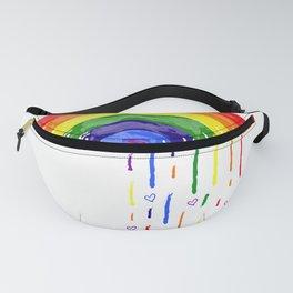 Love Rainbow Rain Fanny Pack