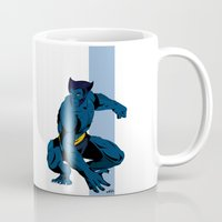 beast Mugs featuring Beast by Andrew Formosa