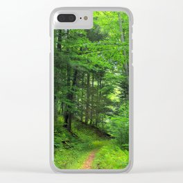 Forest 5 Clear iPhone Case