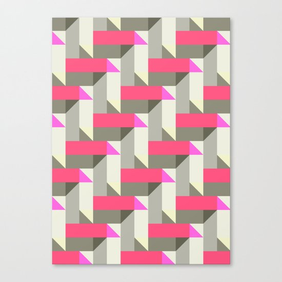 Herringbone geometric Canvas Print
