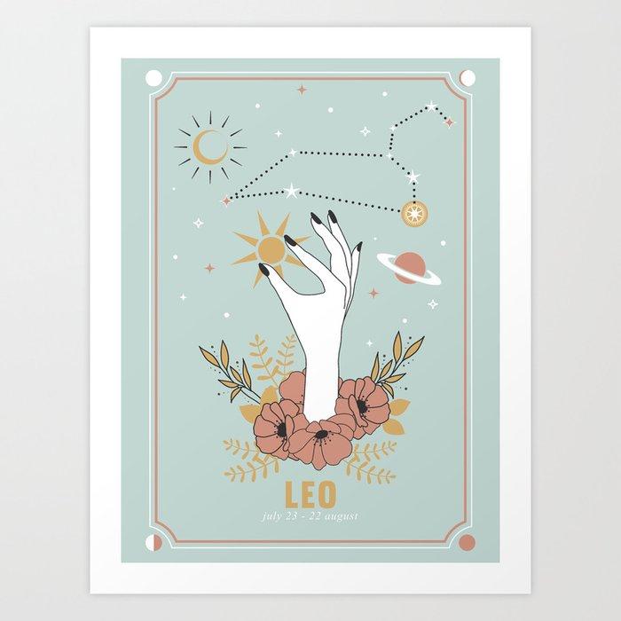 Leo Zodiac Series Art Print