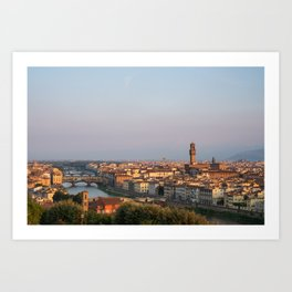 View of the city of Florence early in the morning. Art Print