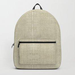 """Nude Burlap Texture"" Backpack"