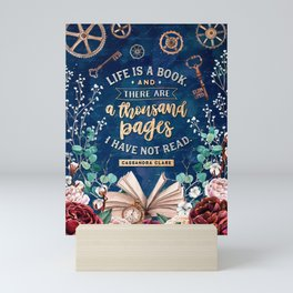 Life is a book Mini Art Print