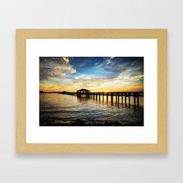 Biloxi Bay Sunset Framed Art Print