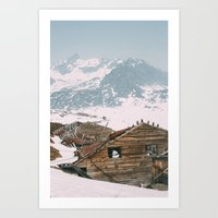 Abandoned Building at Independence Mine Art Print