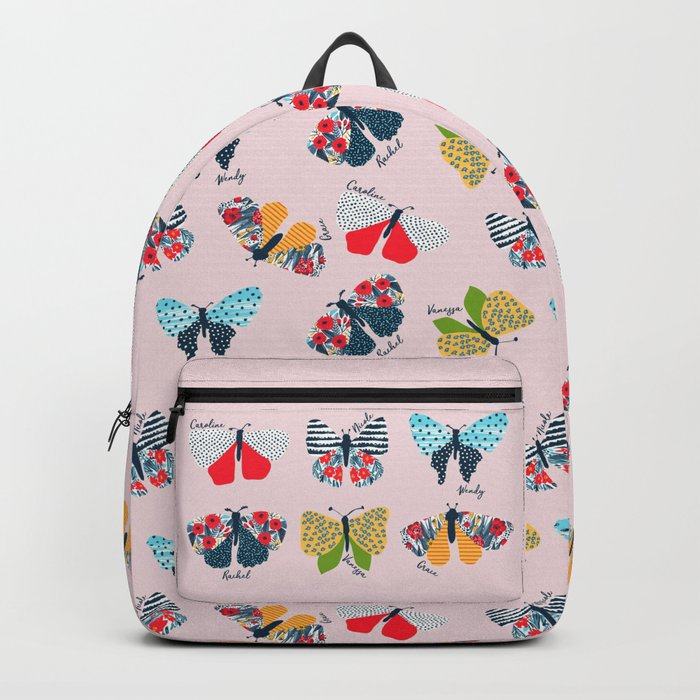 Funny butterflies illustration Backpack