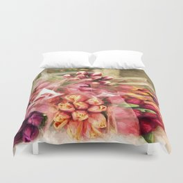 Spoken Without Sound - Flower Art Duvet Cover