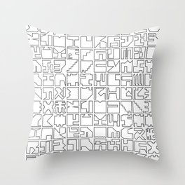 Printed Pixels Throw Pillow
