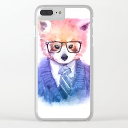 Cute fashion hipster animals pets red panda Clear iPhone Case
