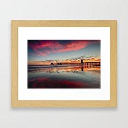 Huntington Beach Sunsets  8/5/15  Framed Art Print