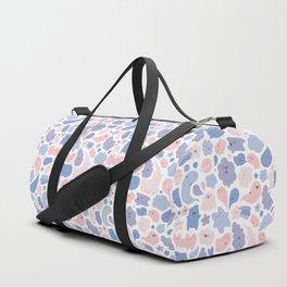 Colors Of The Year Doodle - Rose Quartz & Serenity - Pantone Duffle Bag